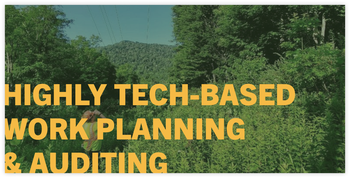 high tech work planning and auditing system