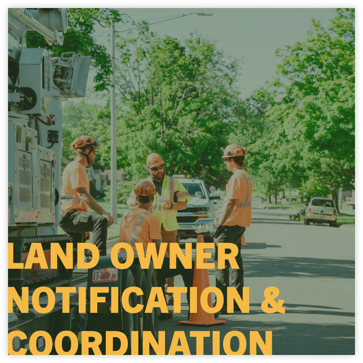 land owner notification coordination