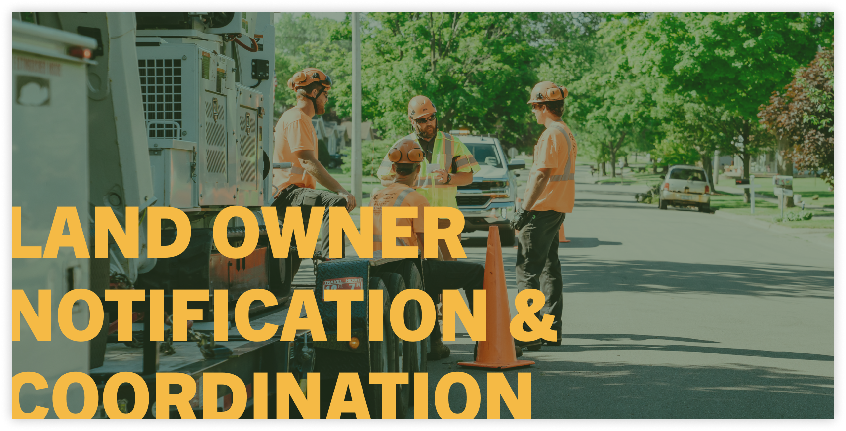 land owner notification tree service company