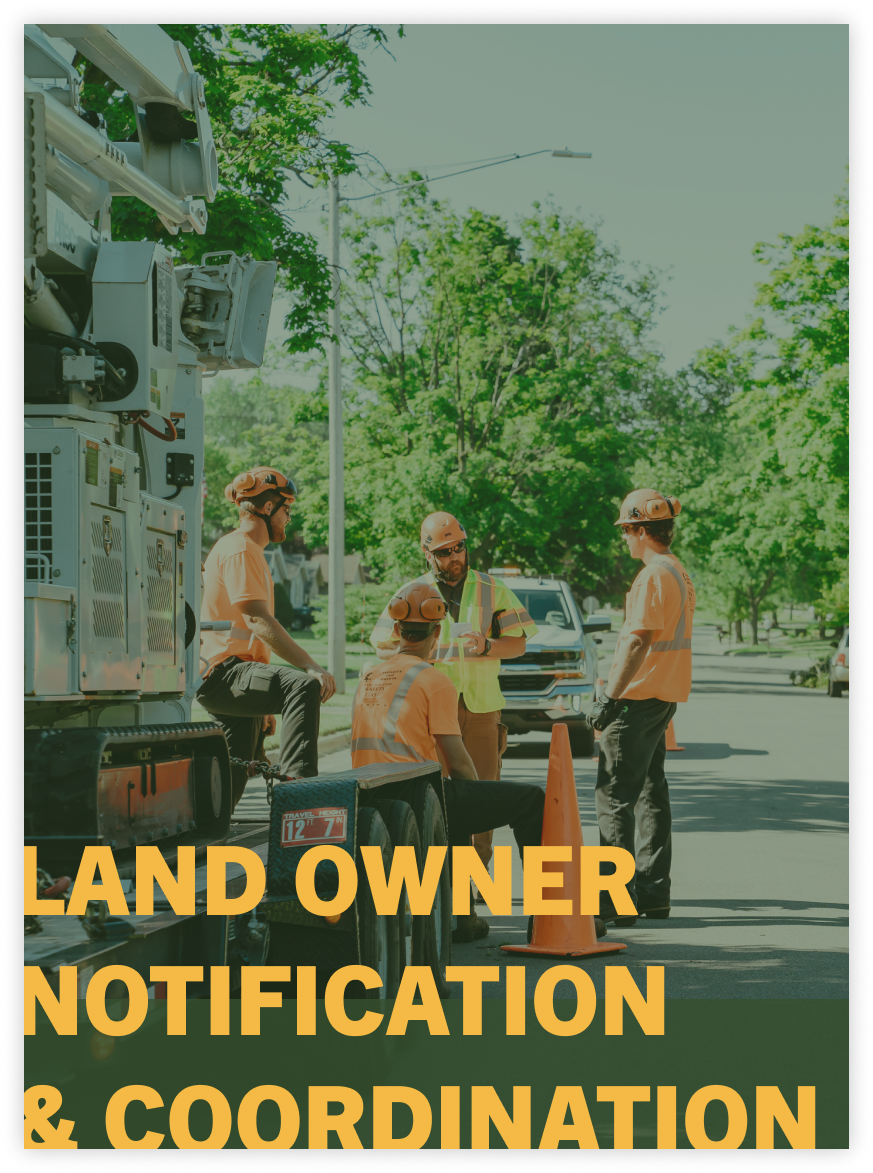 land owner notification services